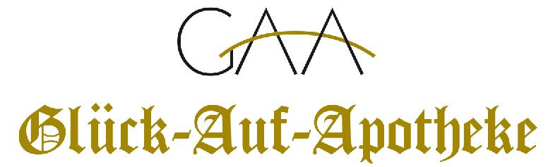 Logo der Glück-Auf-Apotheke im Gesundheitszentrum