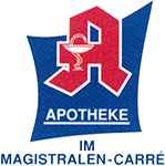 Logo der Apotheke im Magistralen-Carré