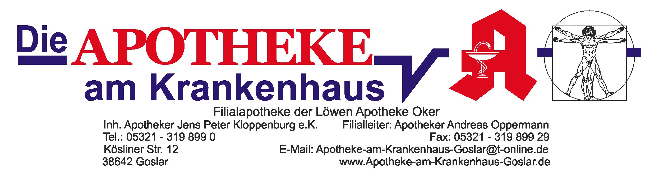 Logo Apotheke am Krankenhaus - Filialapotheke der Löwen Apotheke Oker