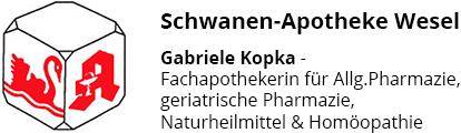 Logo der Schwanen-Apotheke Wesel
