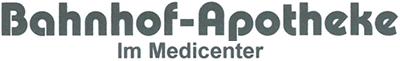 Logo der Bahnhof-Apotheke im Medicenter Düren