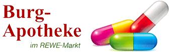 Logo der Burg-Apotheke im REWE-Markt