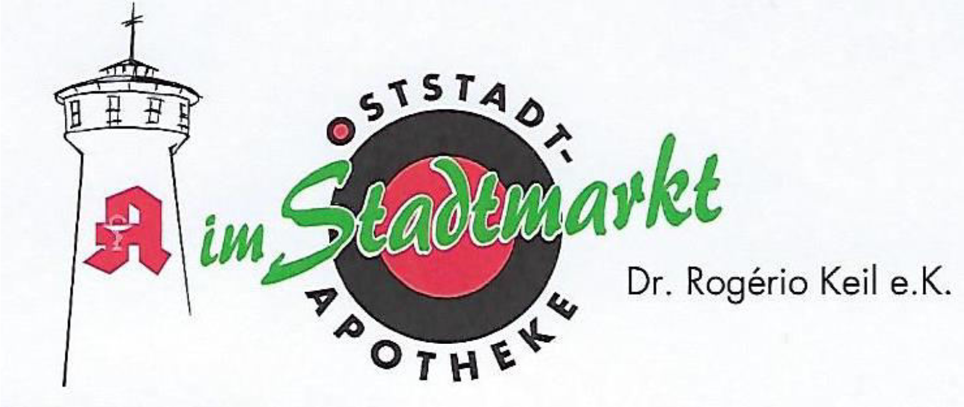 Logo der Oststadt-Apotheke im Stadtmarkt