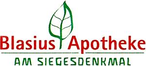 Logo der Blasius-Apotheke am Siegesdenkmal