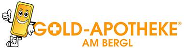 Logo der Gold-Apotheke am Bergl