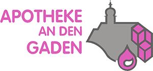 Logo der Apotheke an den Gaden