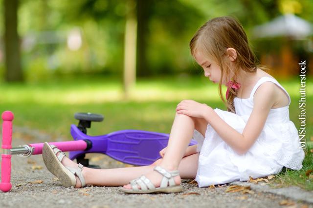 Kleinere Verletzungen bei Kindern