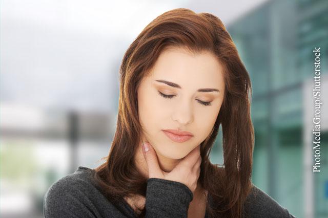 Wie Sie Halsschmerzen loswerden