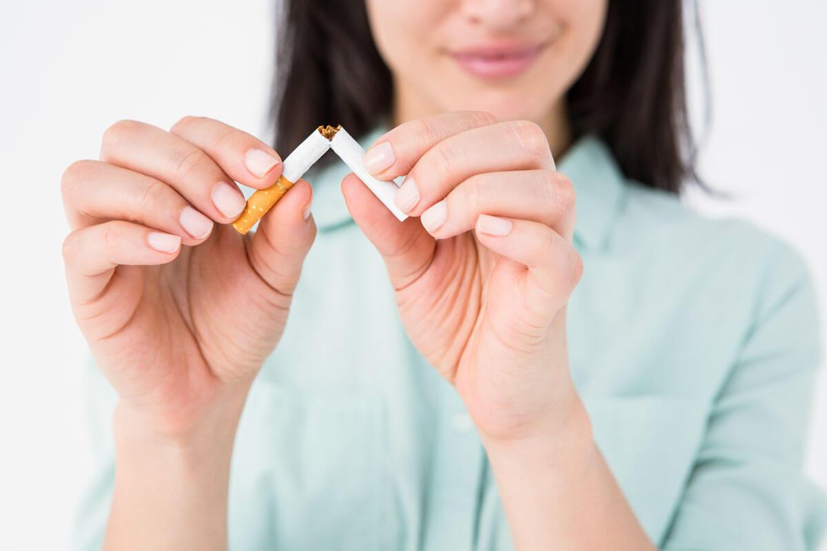 Guter Vorsatz Rauchstopp