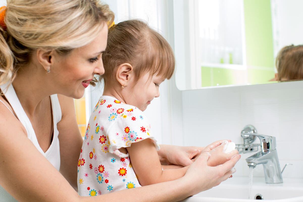 Bild Richtiges Händewaschen bei Kindern