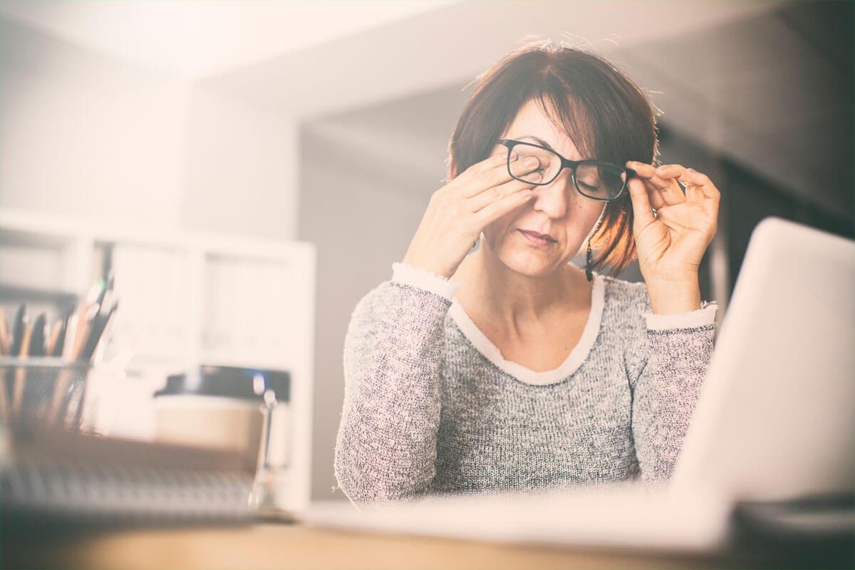 Risiko im Winter: Trockene Augen