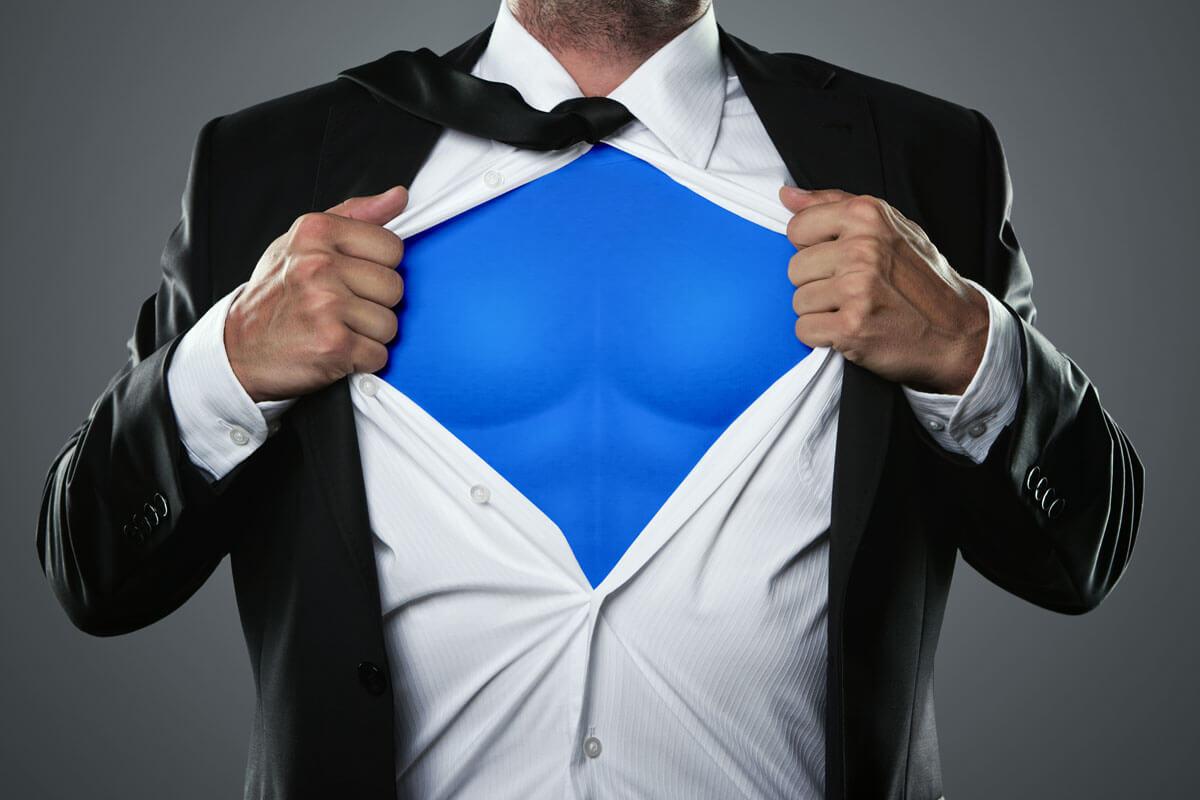 Superman hilft schon beim Anschauen