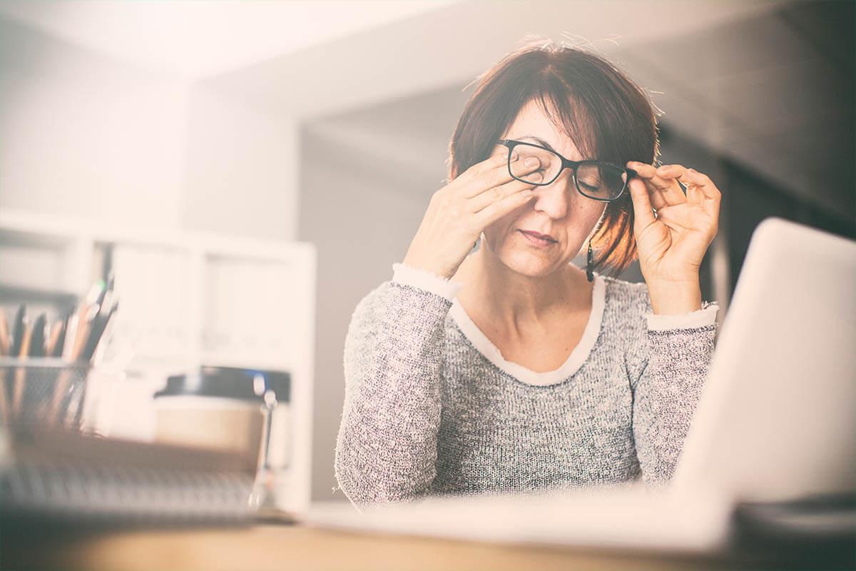 Tipps gegen müde Bildschirmaugen