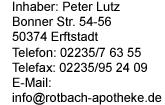 Rotbach-Apotheke Erftstadt Logo